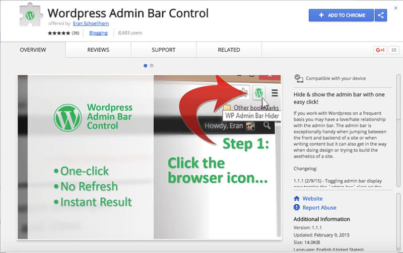 WordPress-Admin-Bar-Control