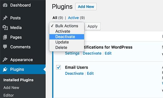 deactivateplugins